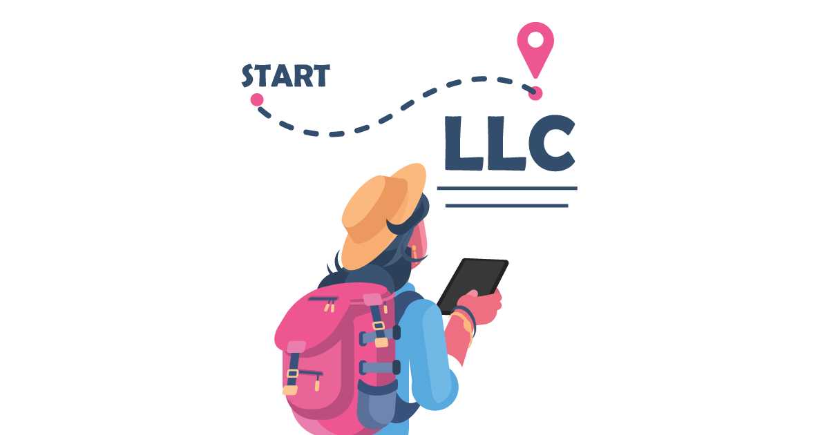 Woman starting her journey to form an LLC.