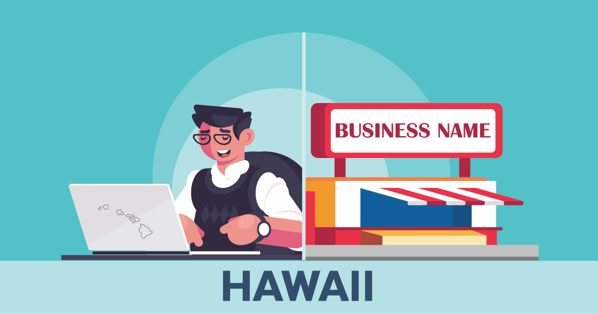 Image of a man looking up how to file a D B A in Hawaii