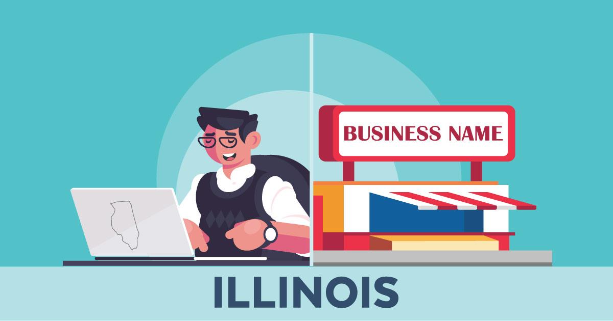 Image of a man looking up how to file a D B A in Illinois