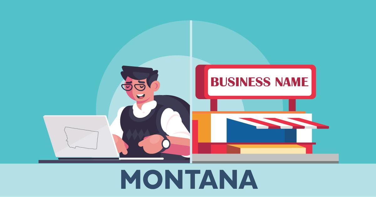 Image of a man looking up how to file a D B A in Montana