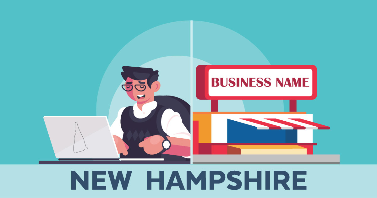 Image of a man looking up how to file a D B A in New Hampshire