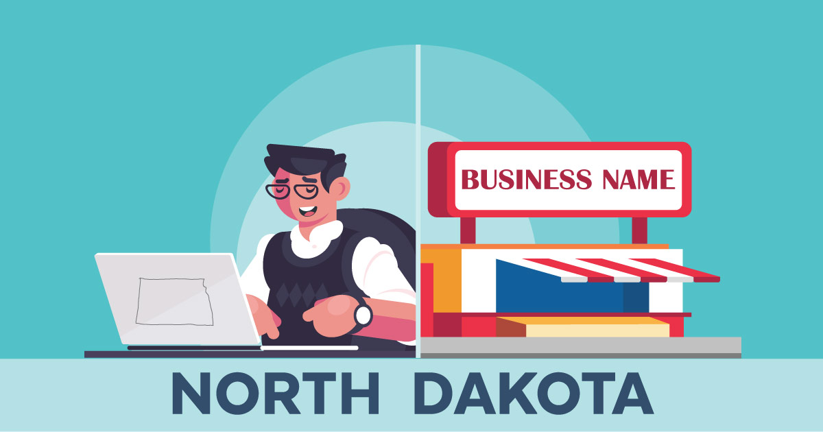 Image of a man searching how to file a D B A in North Dakota online