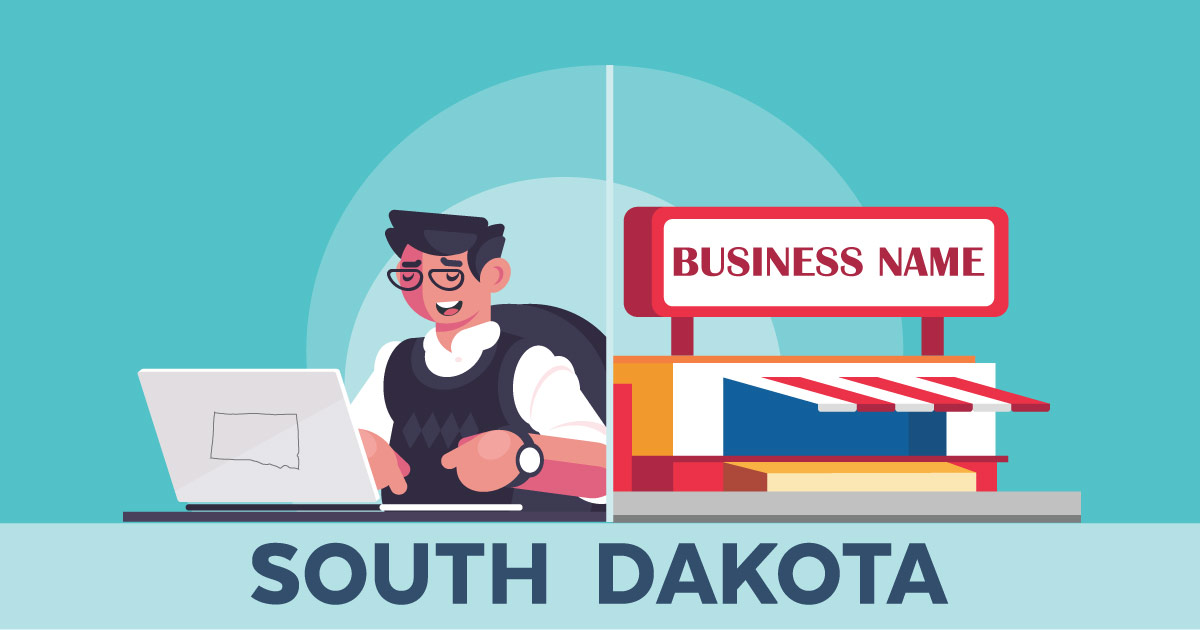 Image of a man searching how to file a D B A in South Dakota online