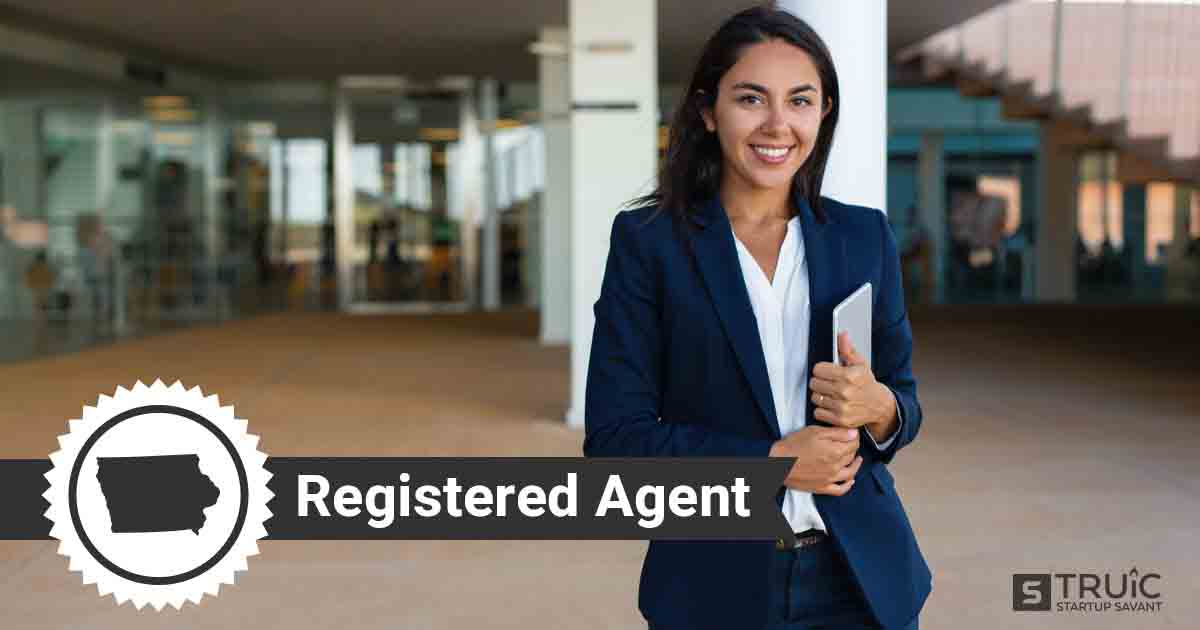 A smiling Iowa registered agent