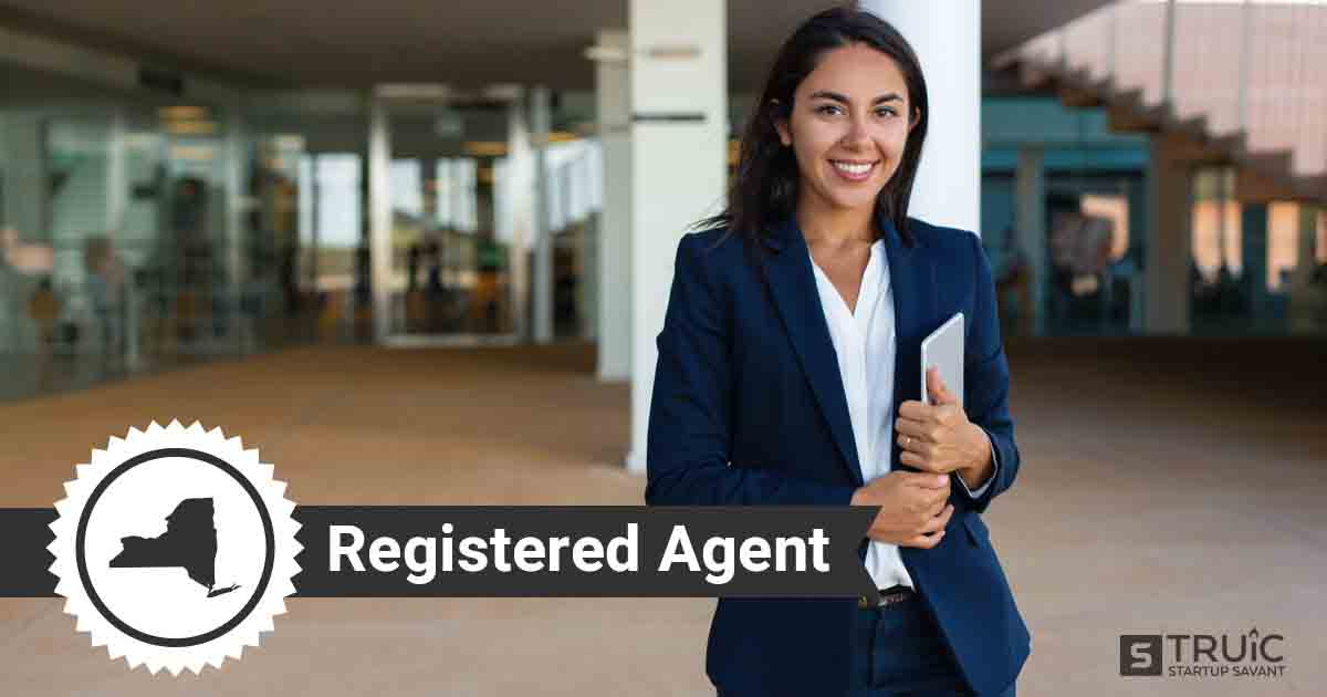 A smiling New York registered agent