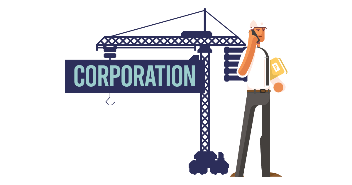 Image of a man forming a corporation in California.