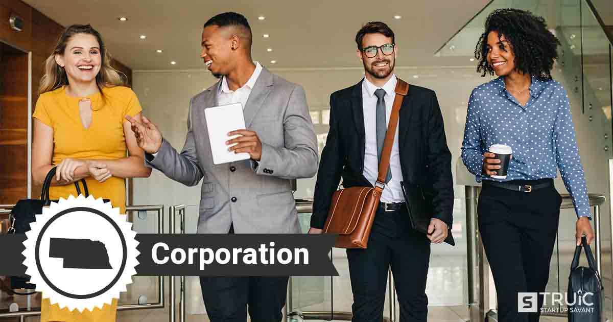 Four Nebraska entrepreneurs deciding how to form a Nebraska corporation.