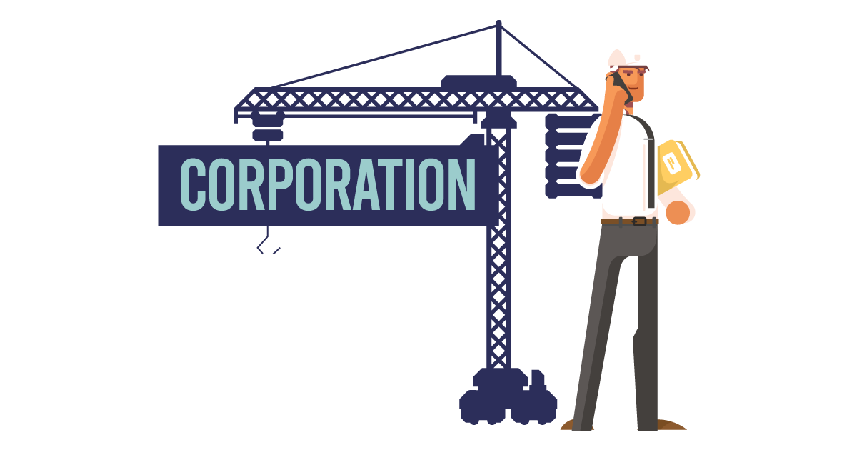 A man forming a corporation in New Jersey