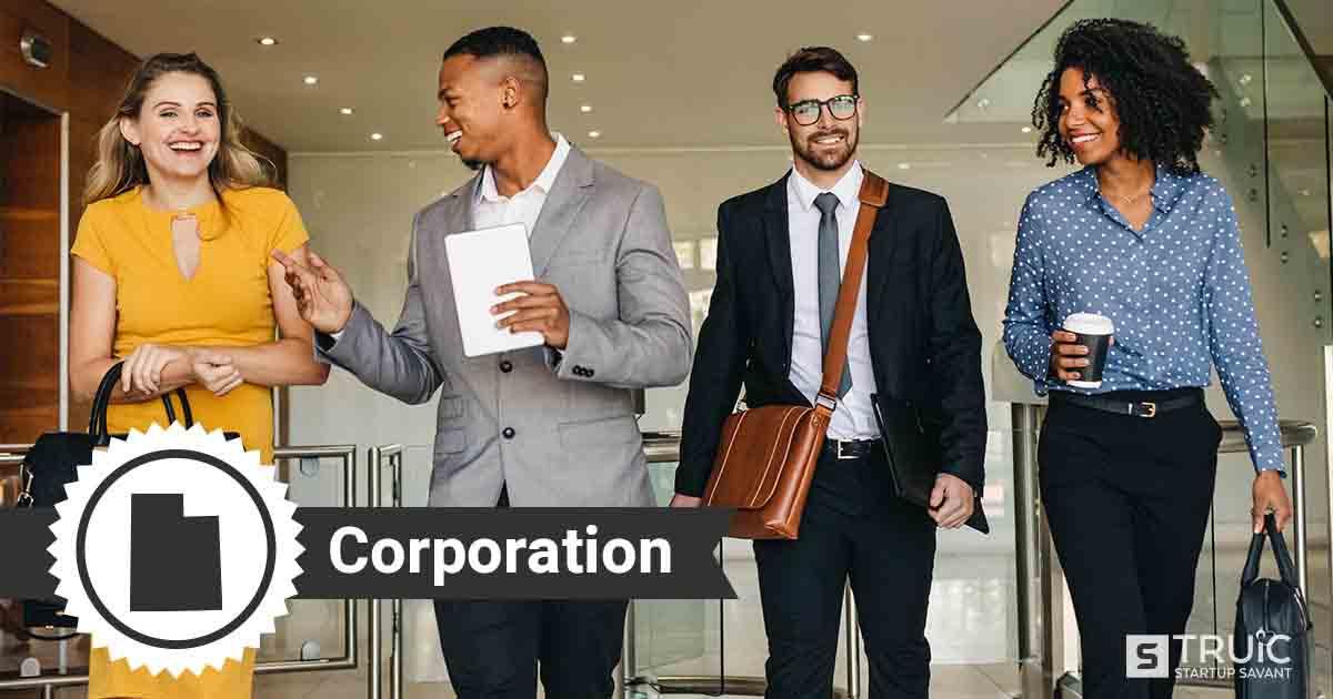 Four Utah entrepreneurs deciding how to form a Utah corporation.