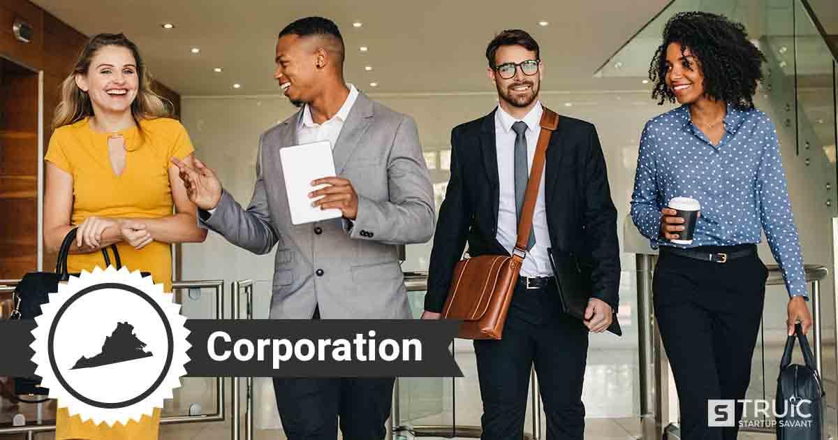 Four Virginia entrepreneurs deciding how to form a Virginia corporation.