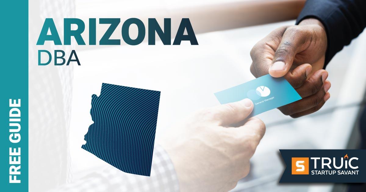 Image of a man looking up how to file a D B A in Arizona on the computer