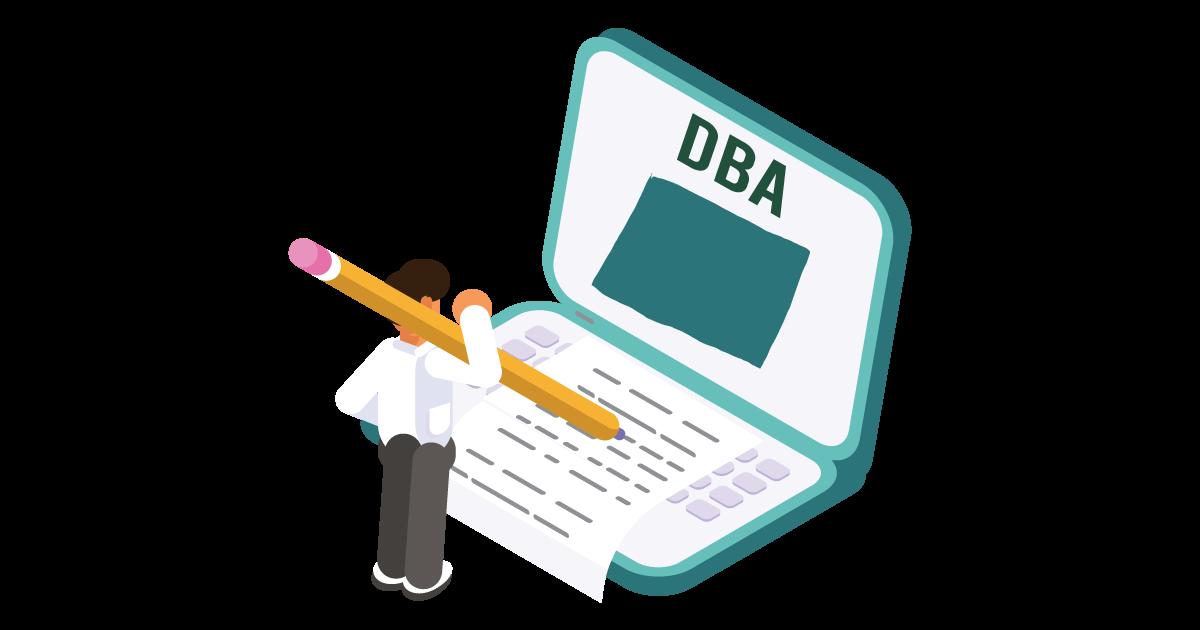 Image of a man looking up how to file a D B A in Colorado