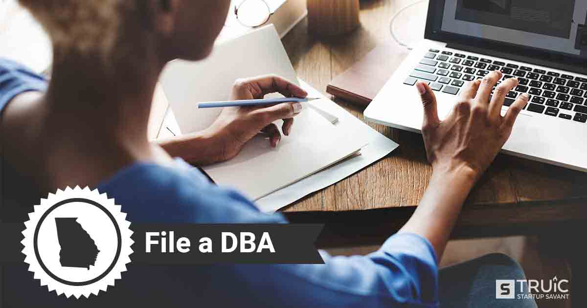 Image of a man looking up how to file a D B A in Georgia