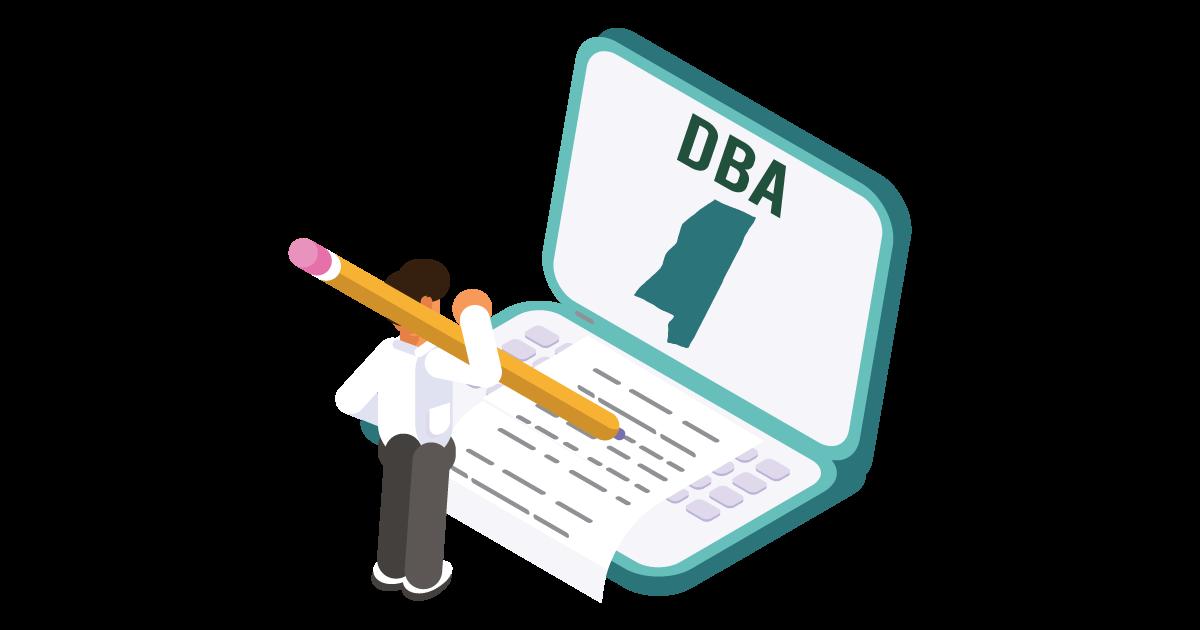 Image of a man looking up how to file a D B A in Mississippi