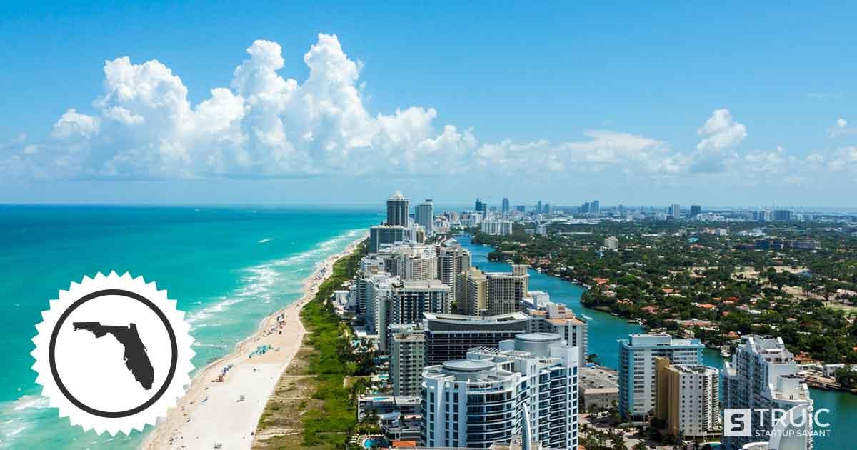 Beach in Miami, Florida.