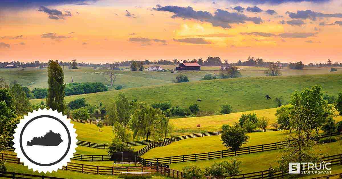 A sprawling expanse of farmland in Kentucky