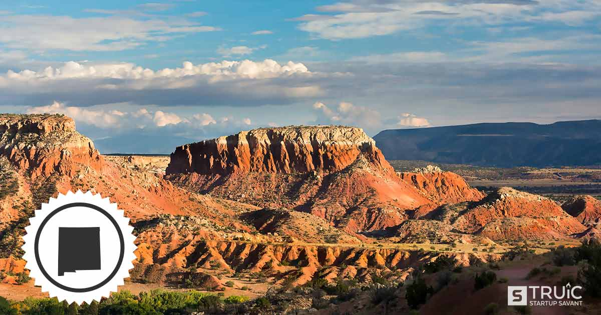 Landscape of mountains in New Mexico.