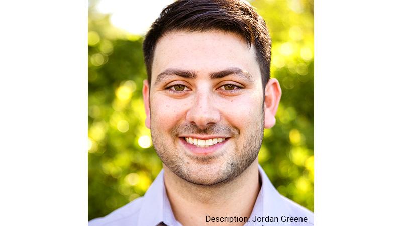 Headshot of Jordan Greene, AEye co-founder and VP of Corporate Development.