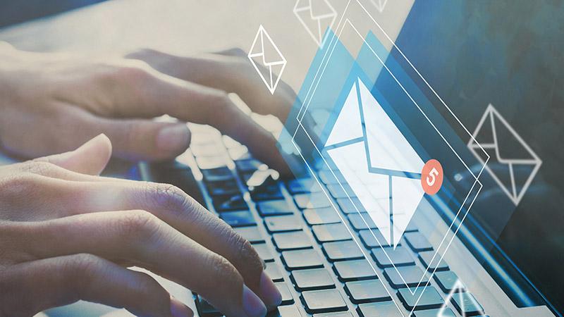 Online communication concept.