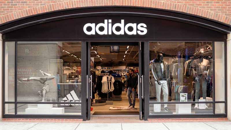 Adidas storefront.