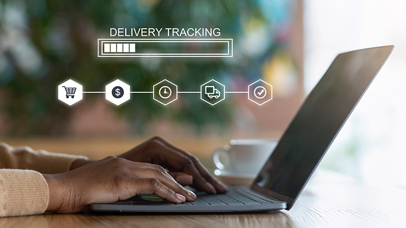 Delivery tracking concept.