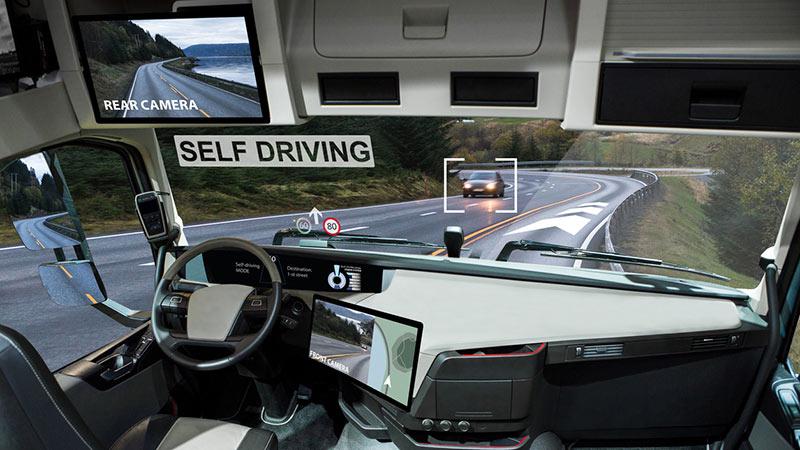A self-driving truck.