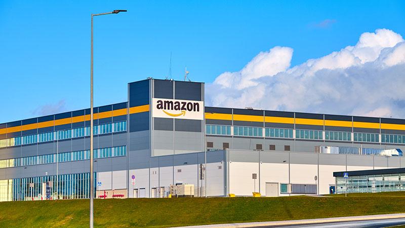 Amazon Robotics e-commerce center.
