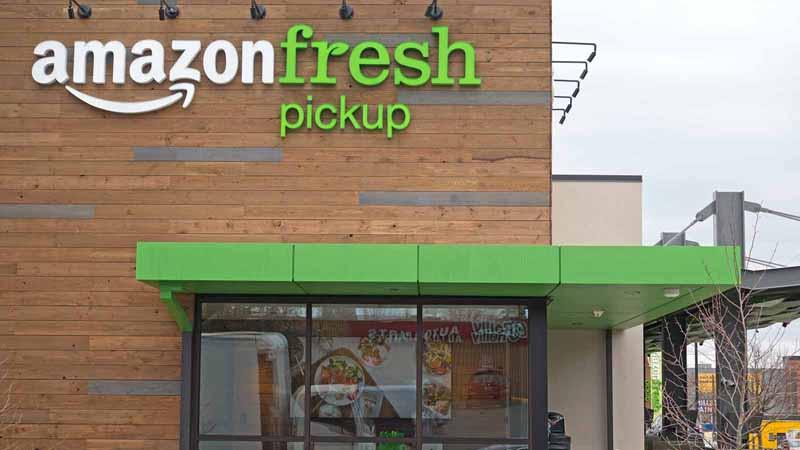 Amazon Fresh Pickup storefront in Seattle.