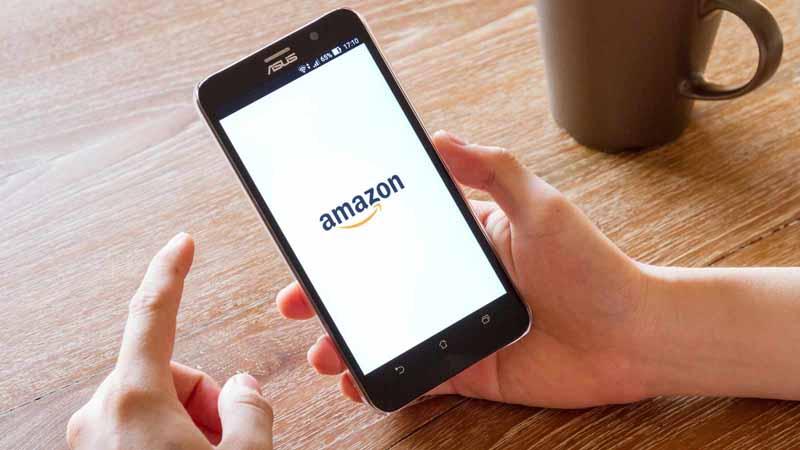 Amazon app on a smartphone.