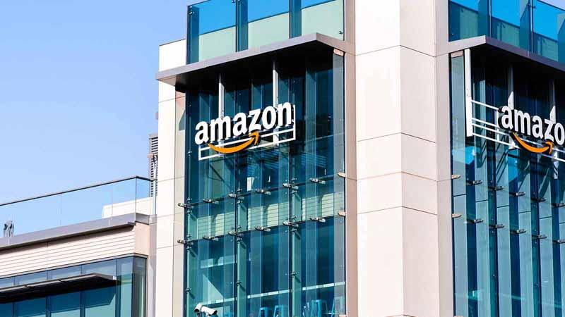 An Amazon corporate building.