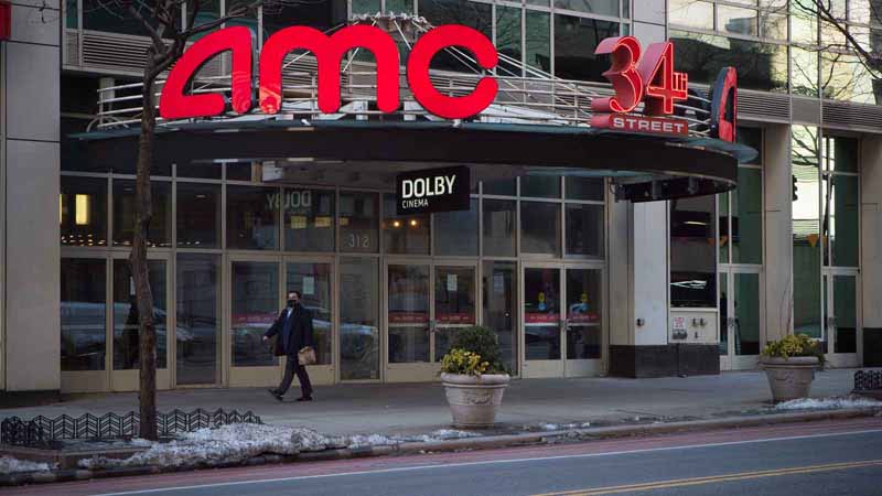 AMC theater in New York City.