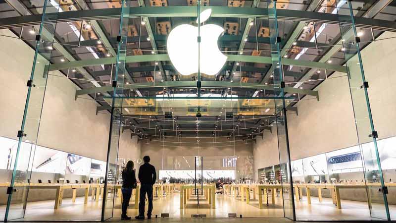 Apple storefront.