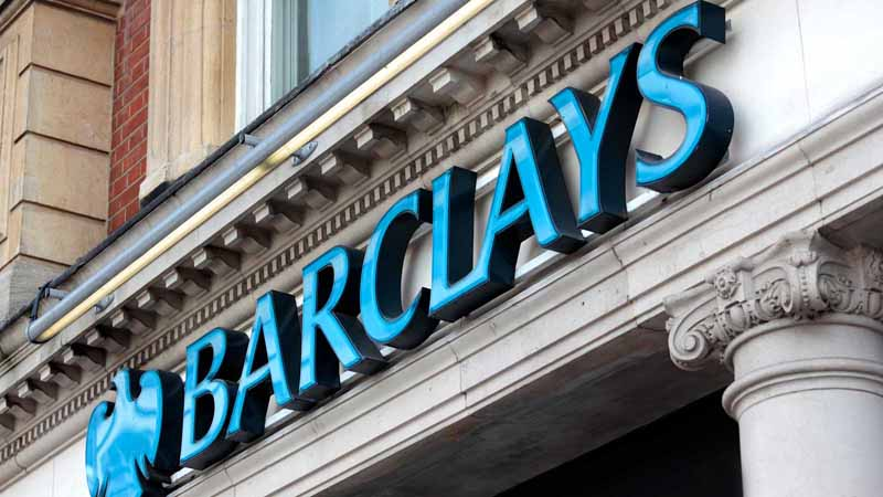 Barclays sign in London, UK.