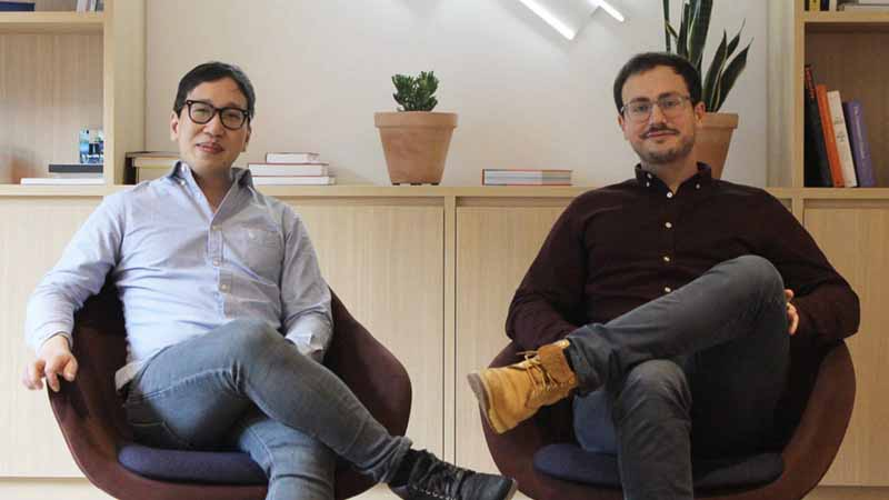 Blobr founders: CEO Alexandre Airvault and CTO Alexandre Mai.