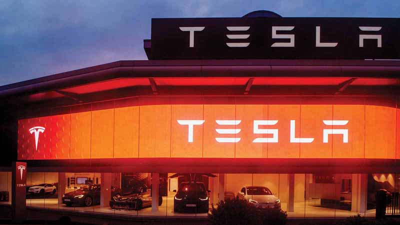 Tesla showroom in London, UK.