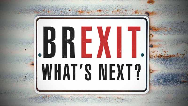 a sign that reads Brexit Whats Next