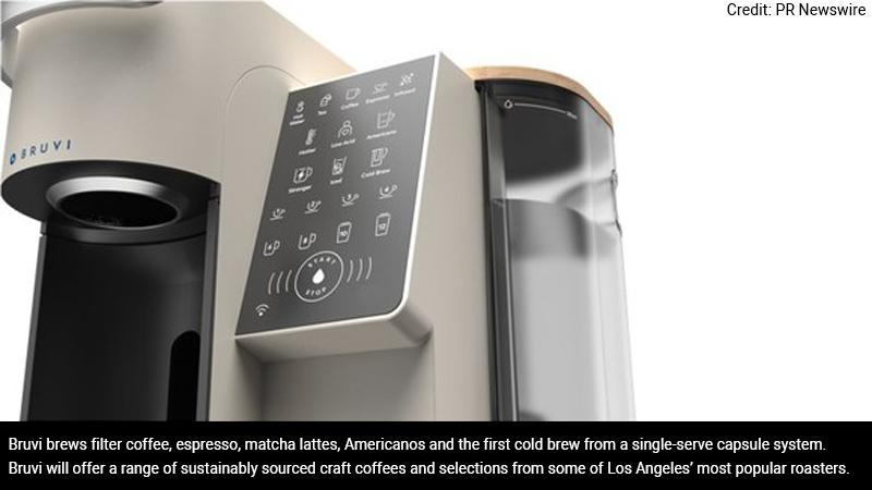 Bruvi's single serve coffee system.