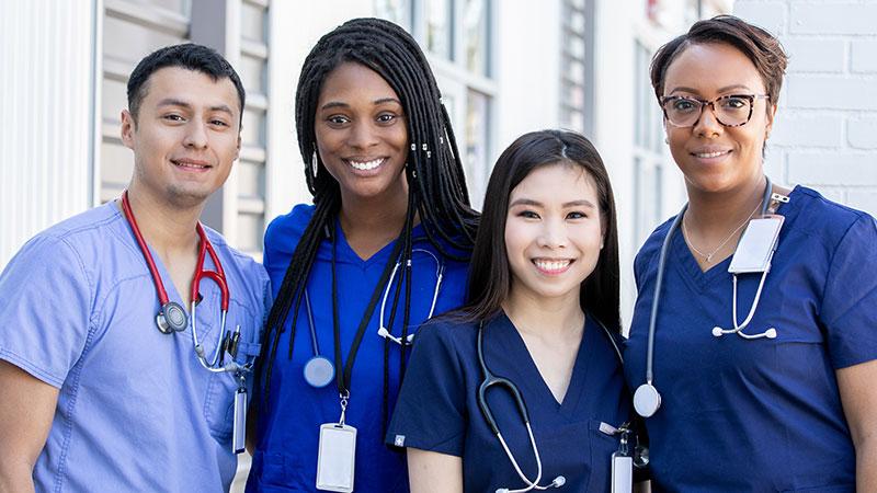 A group of nurses.