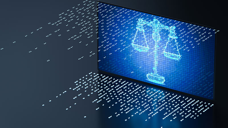 Cyber law concept.
