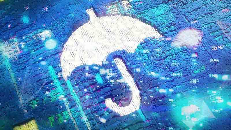 Digital umbrella art.