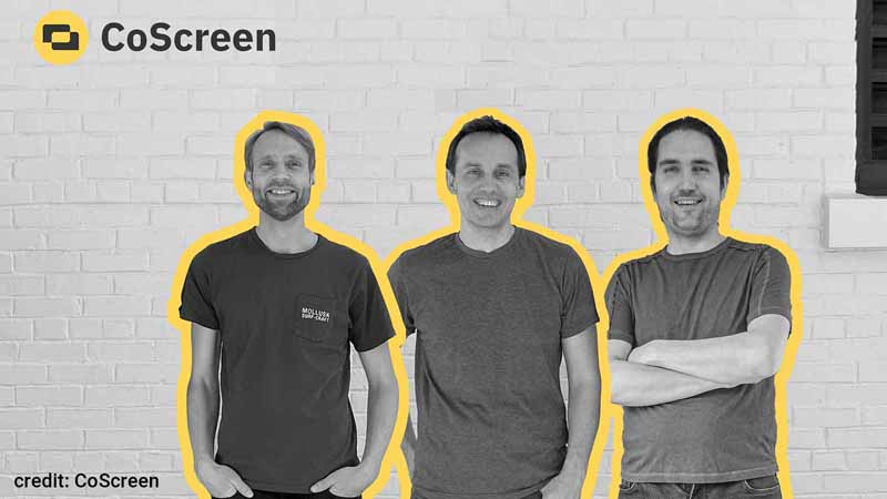 CoScreen co-founders Max Andaker, Till Pieper, and Jason Thomas.