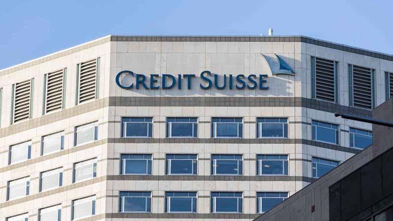 Credit Suisse building in London, UK.