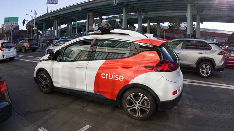 Cruise self-driving car in San Francisco.