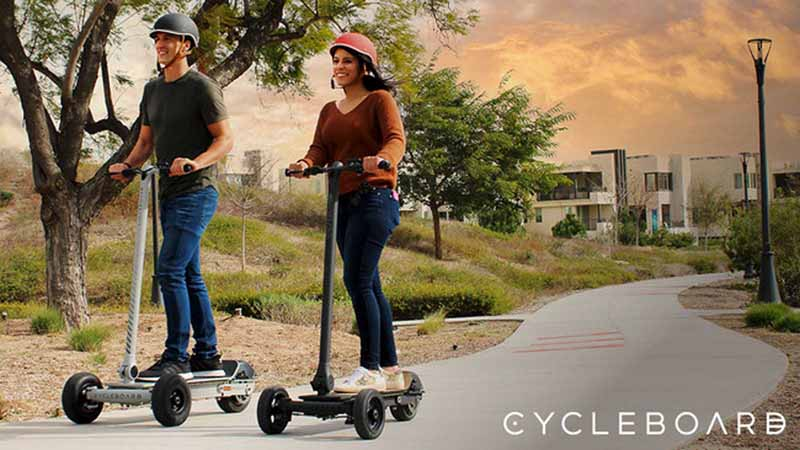 Three-wheel electric scooters from CycleBoard
