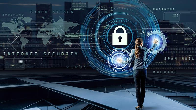 Internet security concept.