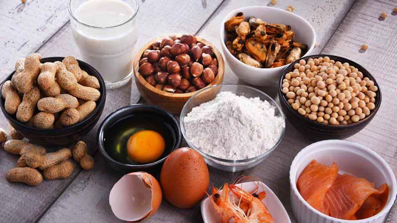 Common food allergens.