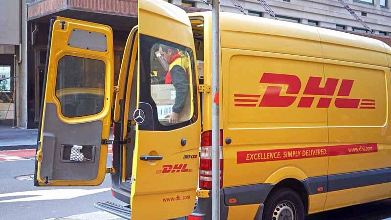 A DHL truck.