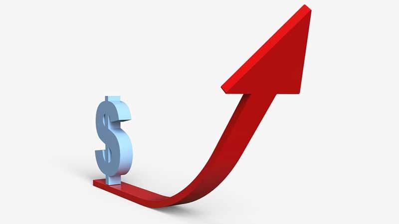 A rising financial chart.