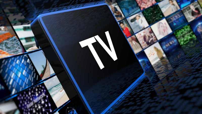 Smart TV concept.