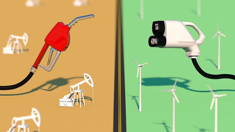 A fuel pump versus an electric plug.